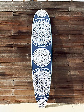 Free People Custom Painted Surf Board