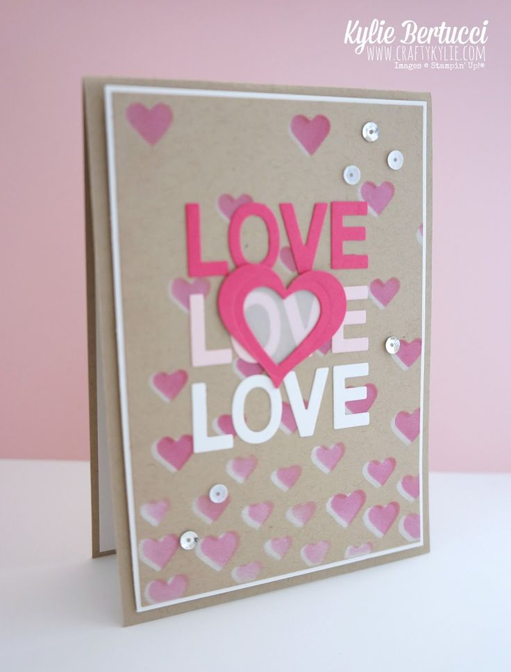 526 best Heart Cards images on Pinterest | Heart cards, Valentines ...