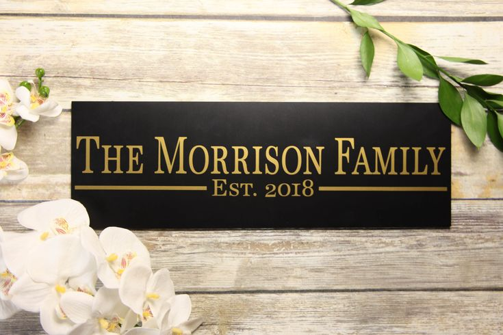 Personalized Vinyl Sign Classy Family Sign Wedding Gift -1166