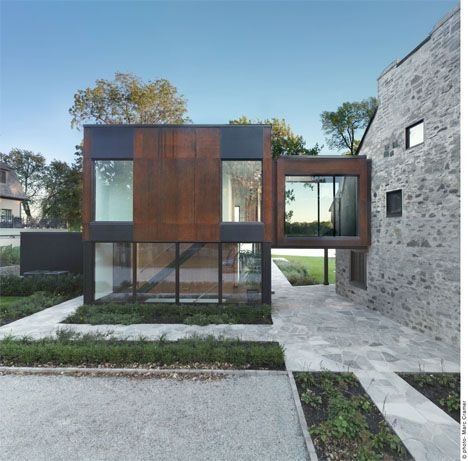 Modern Steel Cubes Complement 200-Year-Old Stone House | Interior Design Seminar by Henri Cleinge