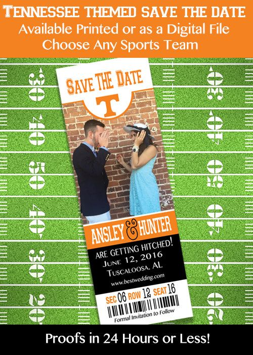 Tennessee College Football Themed Save the by IrresistibleInvites1