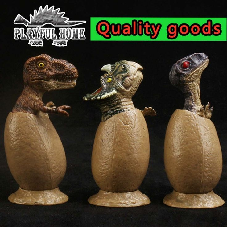 Hot Toys 3pcs Baby Dinosaurs Eggs Model Figma Animals Action Figures Quality Good Toy For Kids Children Anime Dolls Dinossauros