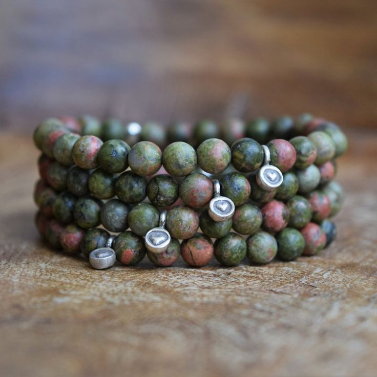 The Friendship Bracelet - Frosted Unakite