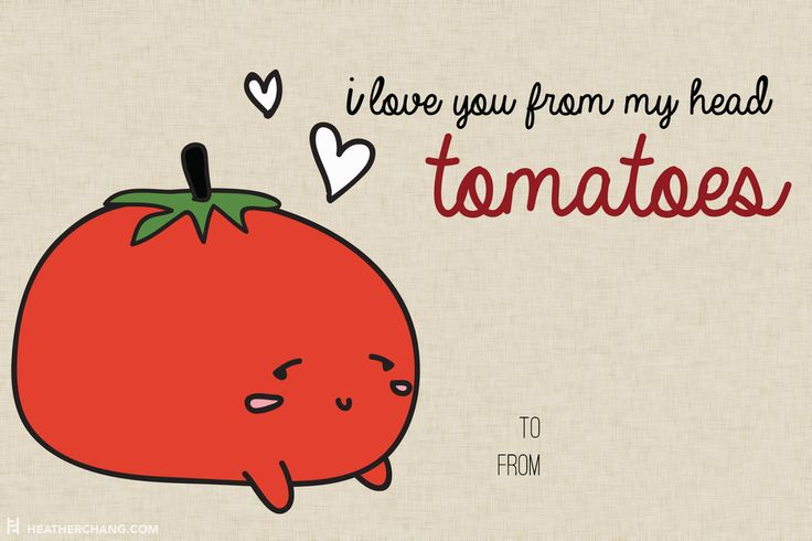 10 Printable V-Day Cards With Food Puns So Bad They're Almost Good