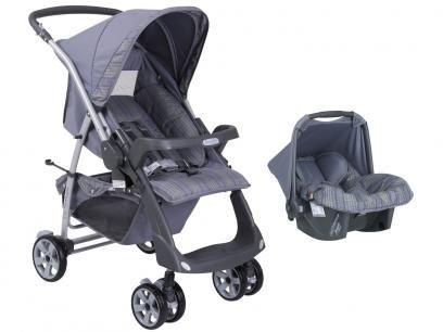 Carrinho de Bebê Passeio Burigotto + Bebê Conforto - Rio Plus Reversível para Crianças até 15kg com as melhores condições você encontra no Magazine Jc79. Confira!
