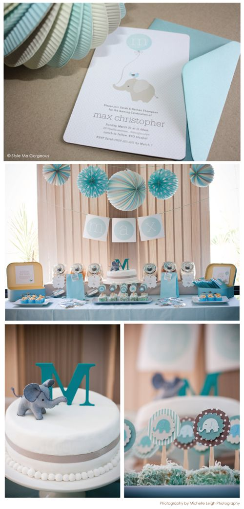 baby shower decorating ideas elephant party