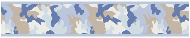Sweet Jojo Designs Blue Camouflage Wallpaper Border available at TinyTotties.com #tinytotties #kidsroomdecor