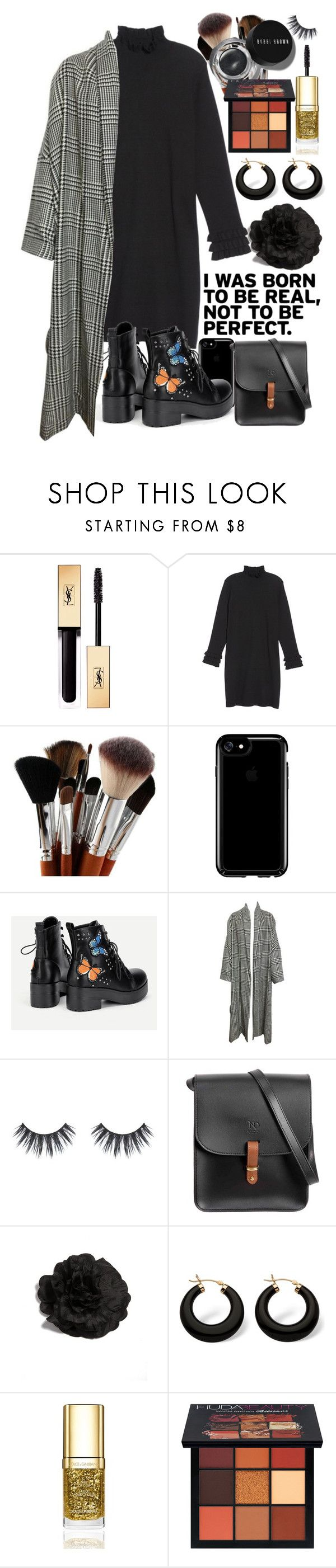 """""""Over sized coats"""" by earthangell on Polyvore featuring Yves Saint Laurent, Glamorous, Speck, N'Damus, Palm Beach Jewelry, Bobbi Brown Cosmetics, Dolce&Gabbana and Huda Beauty"""