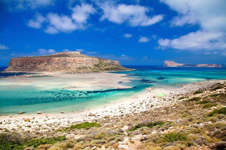 La plage et le lagon de Balos en Crète