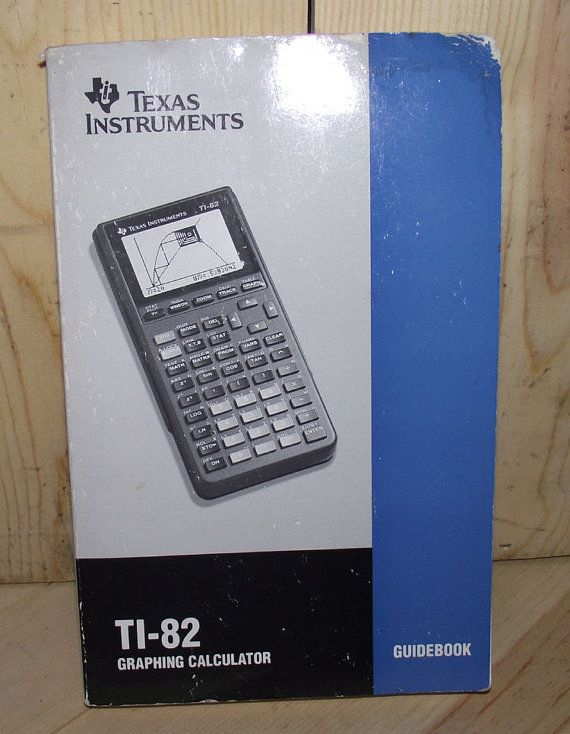 TI 82 Graphing Calculator Guidebook by DaytonaVintage on Etsy, $6.95