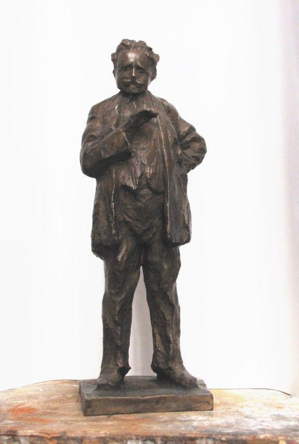 Leoš Janáček, bronze sculpture by Jaroslav Jurčák | Czech contemporary artist.