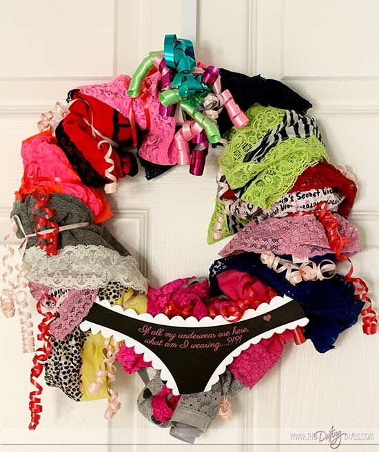 Your man will be breaking down your bedroom door when he sees this panty wreath!