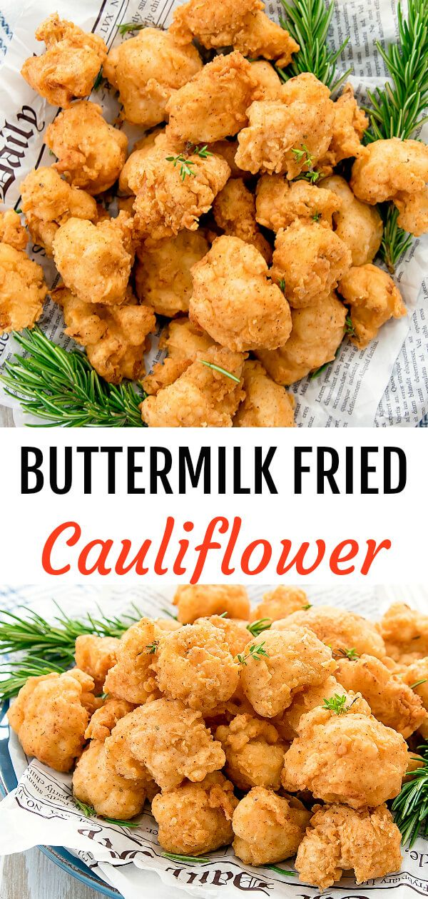 Buttermilk Fried Cauliflower Recipe Fried Cauliflower Coliflower Recipes Califlower Recipes