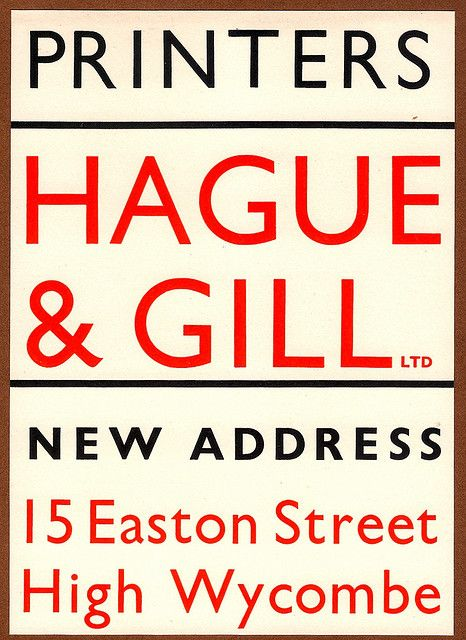Hague & Gill, Printers, High Wycombe - flyer, 1936 | Flickr - Photo Sharing!