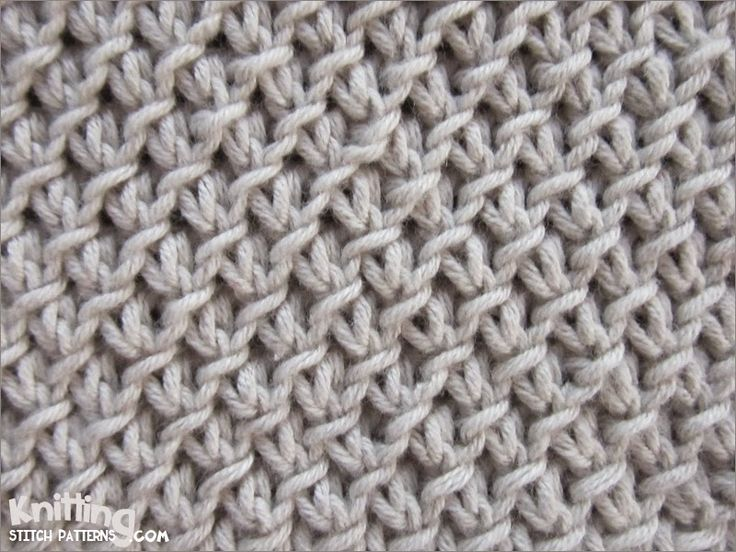 Knitting Easy Stitches : The purl twist fabric stitch knittingstitchpatterns