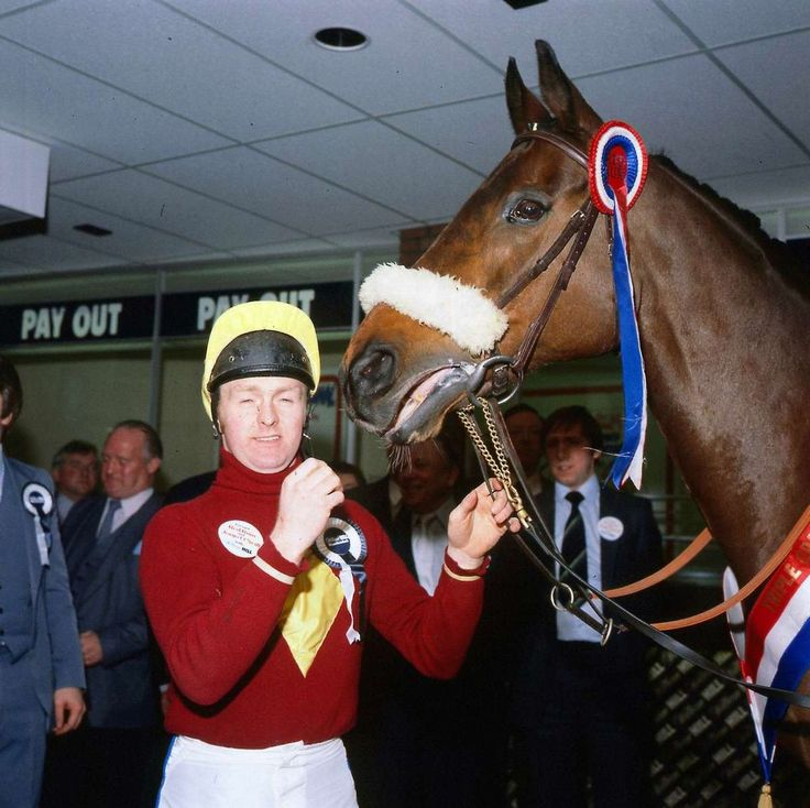 Jonjo O'Neill jockey April 1981 with Red Rum the greatest Grand National winner of all time.