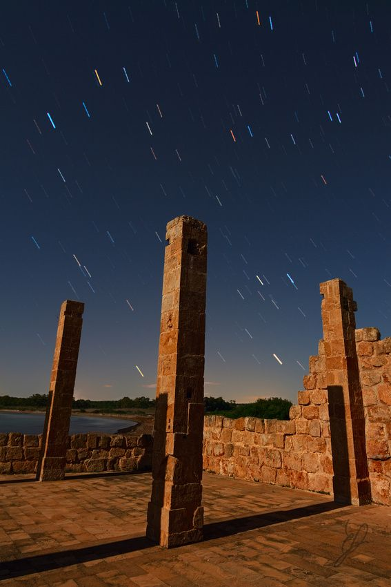 Star Trail over Vendicari's Pillars