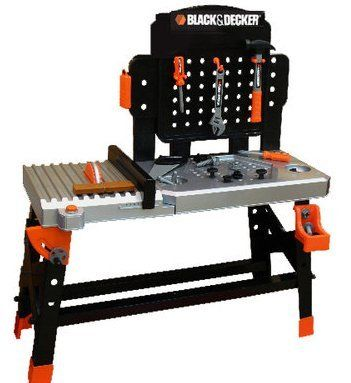 black decker junior ultimate work bench playset toy workbench pinterest toy. Black Bedroom Furniture Sets. Home Design Ideas