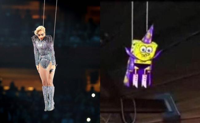 Los memes de Lady Gaga en Super Bowl: de Don Ramón a Bob Esponja