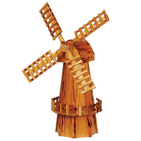 Looking for a clever way to beautify your backyard by covering up a sewer pipe, a well casing or an area that has been dug up or damaged? The Amish 40 Inch High Wooden Windmill is the ideal solution a