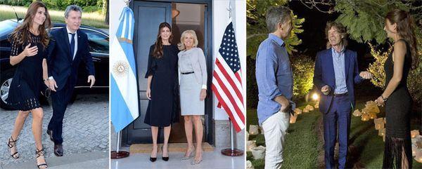 Ama los vestidos negros: Uno de encaje abierto en su gira por Europa. Con Jill Biden, la esposa del vicepresidente de EEUU, con otro de corte clásico y mangas 3/4. En febrero, en la cena con los Rolling Stones, optó por un vestido tejido de El Camarín, con flecos.