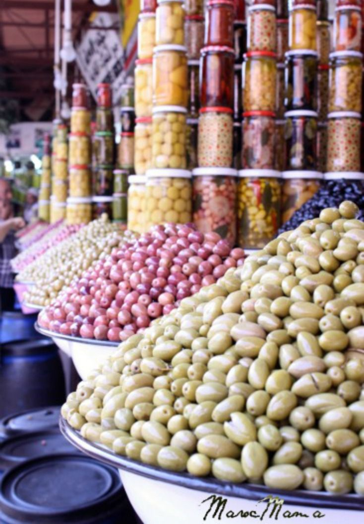 Moroccan olives come in a rainbow of colors, and we know just the place to find them in the medina of Marrakech. Click to find out more!