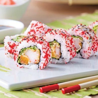 Makis inversés aux crevettes tempura et mandarines - Recettes - Cuisine et…