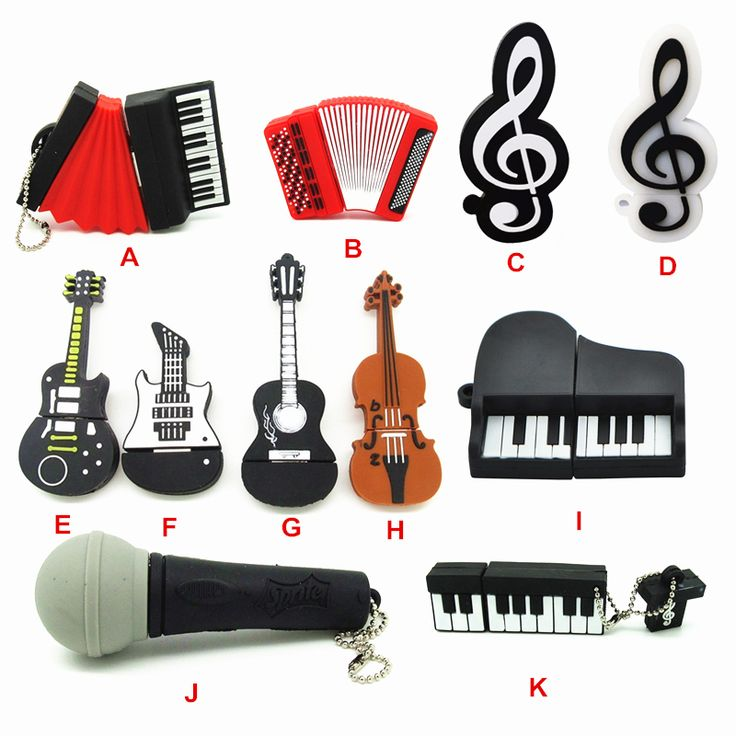 super concert pen drive musical instrument microphone keyboard accordion guitar cello violin usb flash drive pendrive 4gb-32gb //Price: $9.95      #shopping