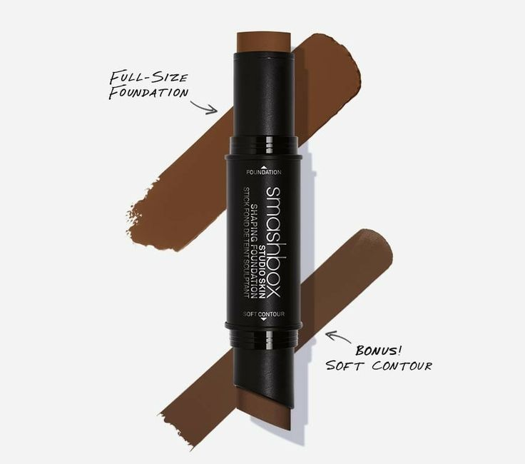 Smashbox Studio Skin Shaping Foundation Stick in 4.3 Deep Warm Brown + Soft Contour