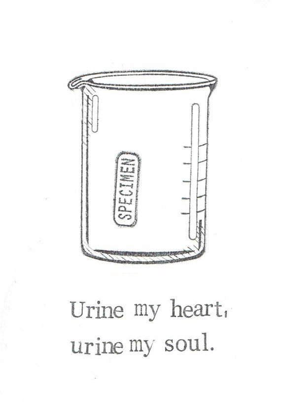 Urine My Heart Card | Funny Medical Humor Lab Sample Specimen Pun Love Friend Doctor Nurse Valentine Chemistry Geekery Weird Science