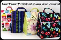 PUL-lined Lunch Bag ~ Tutorial super idee faudrait que je me lance...Ideal quand je vais en cours!!!