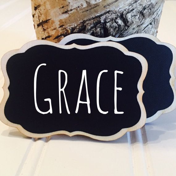 SALE 6 Reusable Name Tags Chalkboard Name Tags by BradensGrace