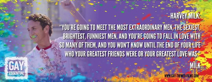 """You're going to meet the most extraordinary men""  http://gay-themed-films.com/film-quotes/ #MovieQuotes #Milk @DLanceBlack"