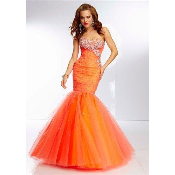 Bright Orange Mermaid Prom Dresses Best 25+ Neon prom dre...