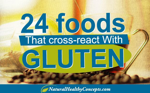 Foods that cross-react with #gluten: 24 Possibilities (Infographic)