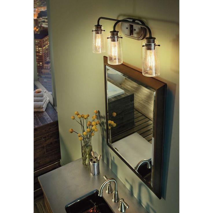 Master Bath Kichler Lighting 4 Light Bayley Olde Bronze Bathroom Vanity Light At Lowes Com: Best 25+ Led Bathroom Lights Ideas On Pinterest