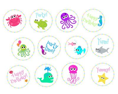 FREE Under the Sea Birthday Party Printables | MySunWillShine.com