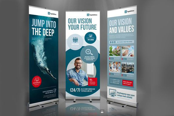 design PROFESSIONAL roll up banner by deluxemedia
