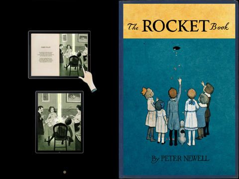Rocket Book ($0.00) The famous animated interactive book with unique 3-dimensional scenes and great narration. The new technology of 3-D scene gives a depth to picture, because all of parts and characters move like in 3D cinema.  It is a book about the upward progress of a rocket, lit in the basement by the janitor's son, causes some strange situations as it passes through 20 floors of apartments!