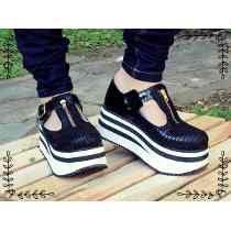 Guillerminas Con Plataforma De Mujer Zapatos Alta Moda
