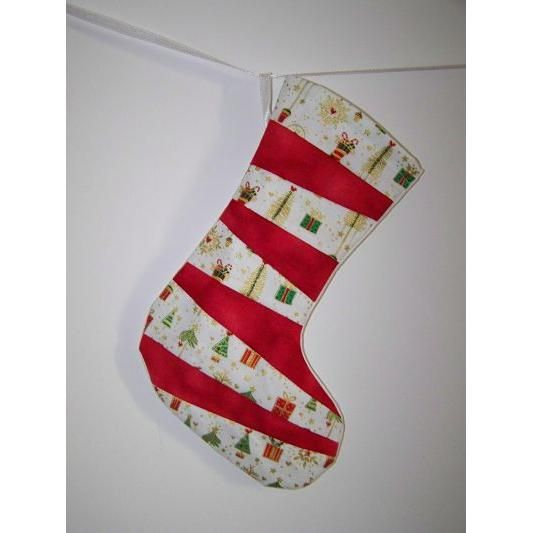 $15.00 Mini Stocking Red and White FREE POST by With2LittlePeas on Handmade Australia