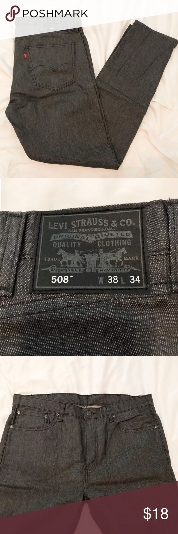 Men's Levi's 508 Dark Denim Jean Excellent condition men's Levi jeans! Worn a couple times and dry cleaned. Levi's Jeans Straight