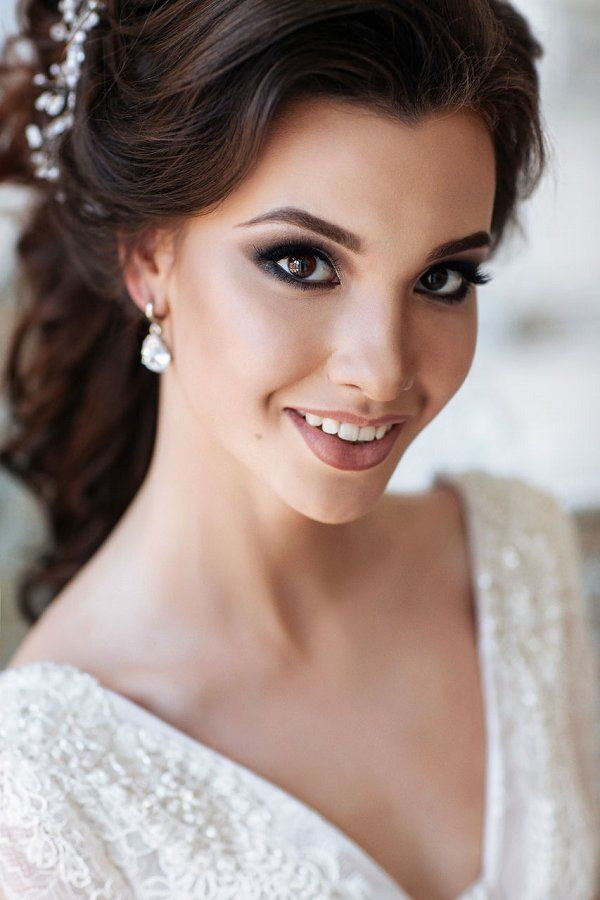 143 best Wedding Makeup images on Pinterest | Bridal hairstyles ...