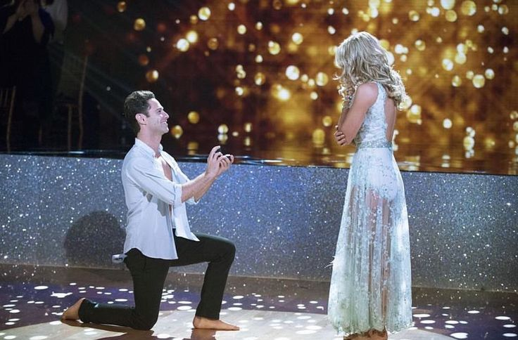 Dancing With the Stars Pros Sasha Farber and Emma Slater Got Engaged on Live TV from InStyle.com