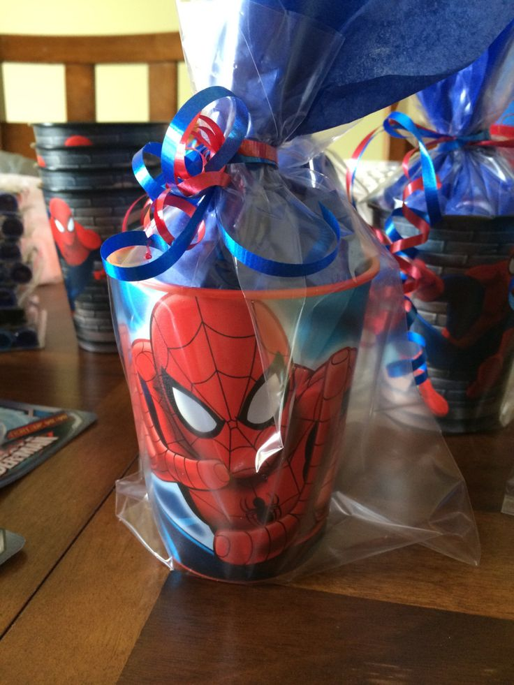 Spiderman party favor by RowdyBoysDesigns on Etsy