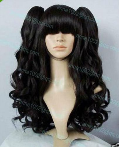 Hot heat resistant free shipping>>>>>>>>>>>>Long Synthetic Curly Heat Black Wig + Two Clip On Ponytail+ 6666 Black Women Wigs http://www.adepamaket.com/products/hot-heat-resistant-free-shippinglong-synthetic-curly-heat-black-wig-two-clip-on-ponytail-6666/ US $30.98    #adepamaket