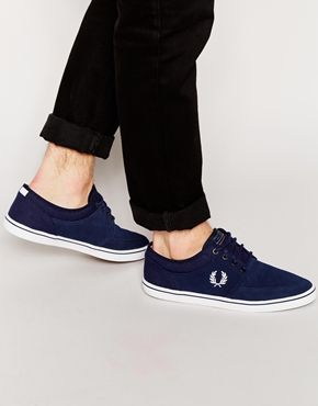 Fred Perry Stratford Suede Plimsolls