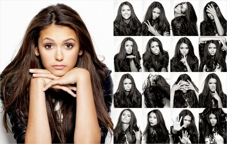 Facial expressions and emotions - examples posing for portrait photography