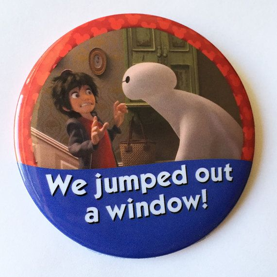 We jumped out a window I'm Celebrating Button by parkbound on Etsy