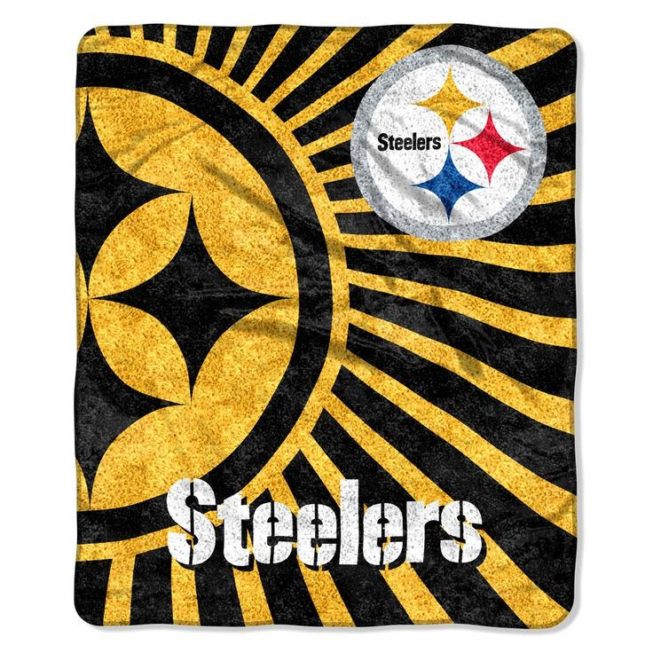 Pittsburgh Steelers Blanket - 50x60 Sherpa - Strobe Design